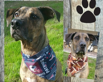 New England Patriots Dog Bandana Collar, Superbowl 2017,  Reversible Dog Bandana, Pet Scarf, Over the Collar Dog Bandana, Pet Bandana