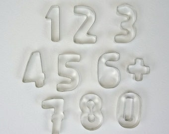 Vintage Numbers Cookie Cutter Set // Kaiser Backform Germany // Tin Cookie Cutters