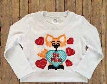 Be Mine Fox Applique Shirt