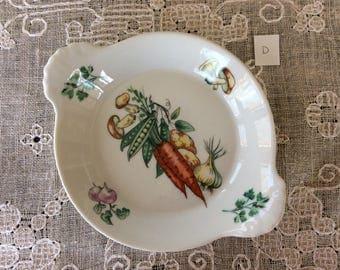 Vintage Apilco France Porcelain Serving Dish / Exclusive  Chamart France