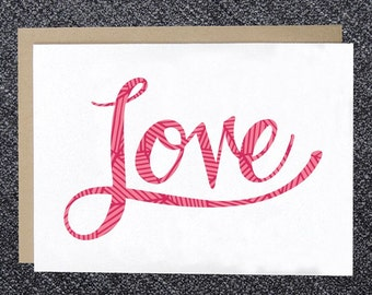 PRINTABLE Love Card - Love - DIY Instant Download