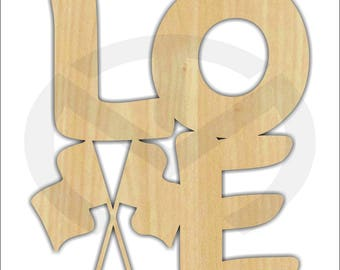 Unfinished Wood LOVE Wall/Door Decoration with Racing/NASCAR Theme, Laser-Cut, Various Sizes, Cars