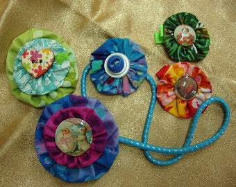Baby Shower Gift -Hair Art - Handmade Yo-yo Hair Clips Barrettes for Major Holidays Plus Baby Headband