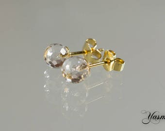 Pur / rock crystal gold plated sterling