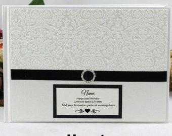 Personalised Birthday Guest Book Memory Album - Cream