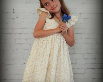 Girls Summer Dress, Girls Summer outfits, Flower Girl Dress, White dress, White Dress for Girls, Flutter Sleeve Dress, Girls Dresses
