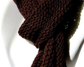 Dark Brown Scarf - Luxury Mens Scarf - Chunky Wool Scarf - Brown Wool Scarf - Gift for Men - Extra Long Scarf - Men Winter Scarf - Xmas Gift