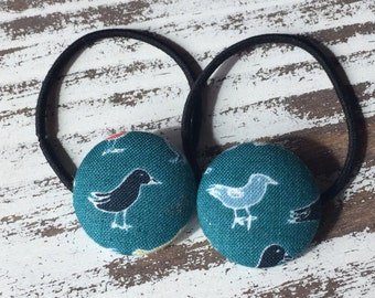 Blue Bird Hair Tie – Bird Hair Clip – Sparrow Hair Elastic – Bird Hair Button – Bird Ponytail Holder – Bird Barrette – Back to School Hair