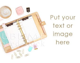 Styled Stock Photography / Planner / Styled Image / Gold Desktop / Digital Background / Social Media Images /  Mock up / StockStyle-811