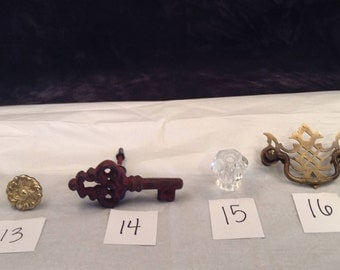 Assortment of cabinet and drawer harware knobs and pulls