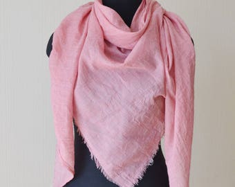 birthday gift|for|her pink scarf girlfriend gift cotton gauze scarf shawl beach scarf womens gift summer scarf womens scarves unique scarf