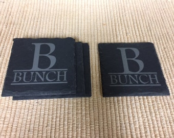 Personalized Slate Coasters Set of 4