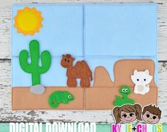 Desert Felt Playset ITH Embroidery Design