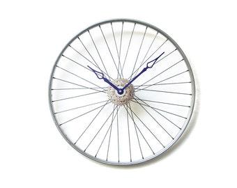 Bicycle Wheel Clock - Bicycle Wall Clock - Large Wall Clock - Unique Wall Clock - Large Wall Clock - Bike Clock - Cyclist Gift - Big Clock