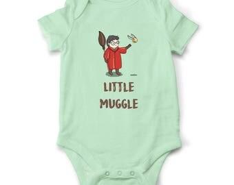 Harry Potter baby bodysuit, Harry Potter baby clothes, Harry Potter Baby gift, Muggle baby bodysuit