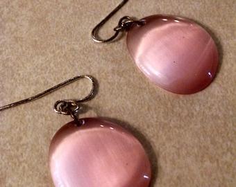 Pink Beaded Drop Earrings, Smooth Pink Tone, Gifts for Her, Accessories, Earrings, Bead Earrings, Pink Earrings, Vintage Jewelry,Pretty Pink