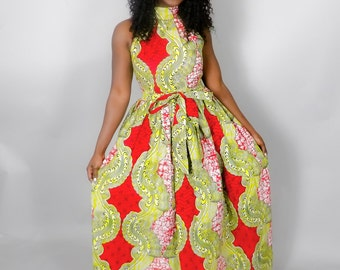 NEW IN: African clothing,African print maxi dress,Ankara dress,Ankara ...