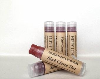 Black Cherry TINTED Lip Balm | Organic Handmade Lipstick | Gifts for her | Bridal Shower Favors | Bridesmaid Gifts | Dark Red Lipstick