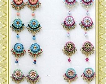Bridesmaid stud earrings, Bridesmaid gift, Bridesmaid earrings, Unique stud earrings, Summer earrings, Pastel earrings, Pretty earrings