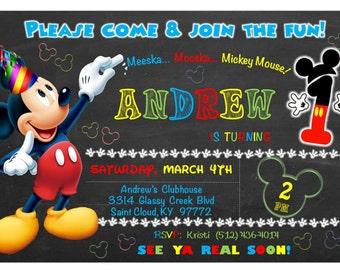 mickey mouse invitation 2