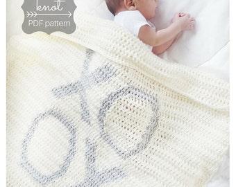 """XOXO """"Hugs & Kisses"""" Crochet Blanket Pattern"""