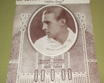 1924  Sheet Music ~ I'm Getting So Now I Don't Care - Rudolph Valentino
