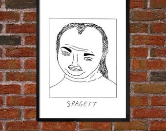 Badly Drawn Spagett - Tim and Eric - Poster / print / artwork - FREE Worldwide Shipping