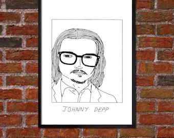 Badly Drawn Johnny Depp - Poster - *** BUY 4, GET A 5th FREE***