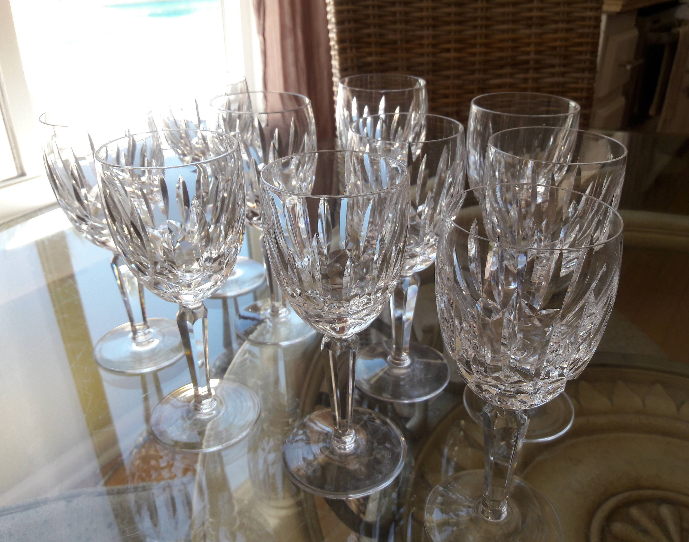 Waterford crystal kildare claret wine glasses waterford - Wedgwood crystal wine glasses ...