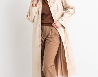 70s Cream Structured Trench Coat