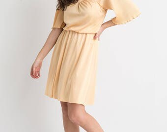 70s Marigold Bell Sleeve Dress