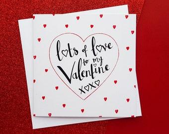 Romantic Quote Valentine's Card | Valentine's Day Card, Girlfriend Valentines. Boyfriend Valentines, Wife Valentines, Husband Valentines