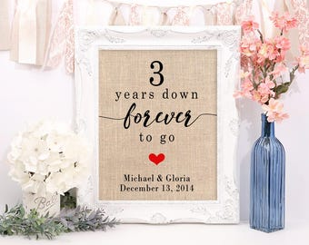 3rd Anniversary Gift For Her, 3rd Wedding Anniversary, 3rd Anniversary Gift For Him