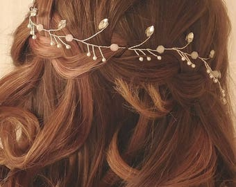 """Bridal Hair Vine - """"Elsa"""""""