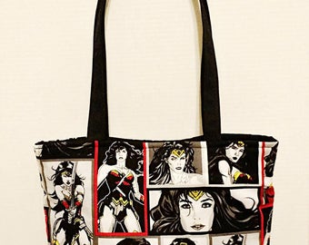 Wonder Woman Fabric Tote Bag Purse Best Deal!