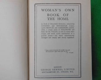 Woman's Own Book of the Home 1934