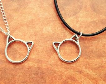 Cat Necklace, Kitty Necklace, Cat Jewellery, Crazy Cat Lady, Kitten Jewelry, Pet Necklace, Cat Lover Gift, Cat Face Necklace, Cat Ears, Gift
