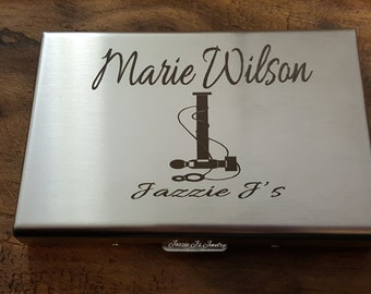 Engraved Stainless Credit Card Holder, Personalized Gift, Initial Wallet, Gift for Him, Gift for Her, Custom Wallet/Credit Card Case, Wallet
