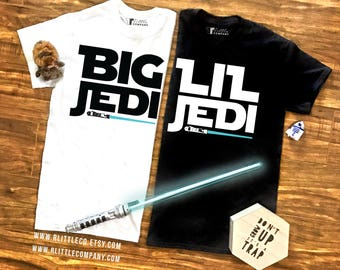 Big and Lil Jedi Unisex Tees, Tanks, and Long Sleeves S-XXL // Big Little Reveal // Big Little Shirts // Sorority Reveal