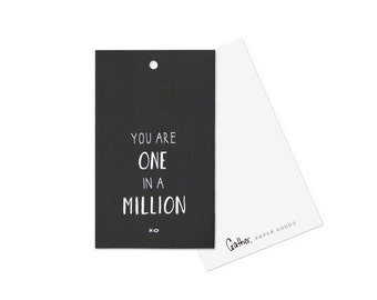 You Are One In A Million - Gift Tag