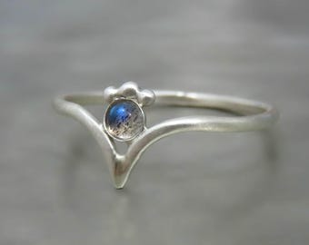 Labradorite Silver Ring, Labradorite Ring Sterling Silver, Labradorite Engagement Ring
