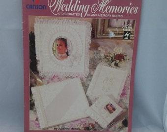 Vintage 1995 Wedding Memories 7 decorated blank memory books, instructions for wedding memory books, wedding, wedding scrapbook, scrapbook