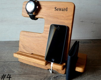 Iphone docking station Christmas gifts for men 40th birthday ideas Gifts for guys Men gifts Ipad stand Personalized gifts for him Mens gifts