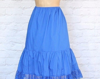 Vintage 80s Underskirt Slip Petticoat Dirndl Hippie Steampunk Costume UK 10...US 6