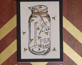 greeting card: you light up my life | fireflies | just because | thinking of you | encouragement | valentine