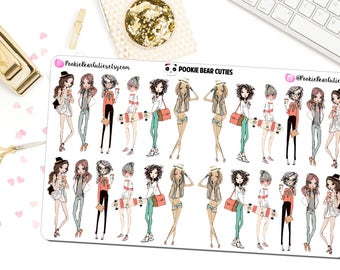 Spring Fashion Girls Stickers -0151