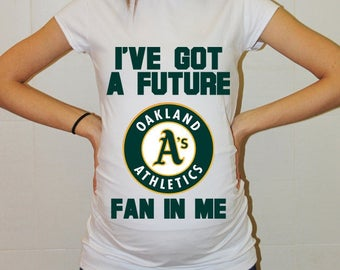 Oakland Athletics Baby Oakland Athletics Shirt Women Maternity Shirt Funny Baseball Pregnancy Pregnancy Shirts Pregnancy Clothing