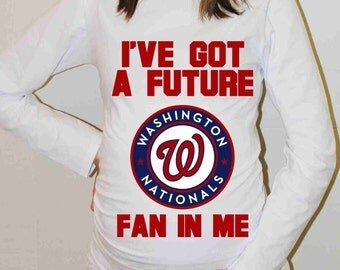 Washington Nationals Shirt Washington Nationals Baseball Long Sleeve Maternity Shirt Pregnancy Baby Shower