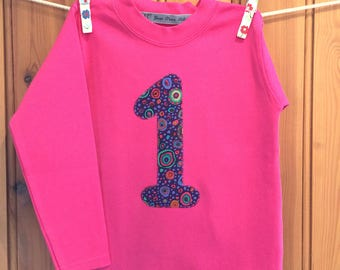 Baby girl 1st birthday outfit * 1st birthday * girls birthday t shirt * 1st birthday tshirt * age Tshirt * personalised * Yew Tree Stitches