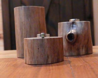 Wood Ring Display, Wood Jewelry Display, Log Jewelry Stand, Natural Log Ring Display